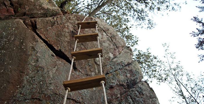 Senderismo con segunda b - Escaleras de cuerda ...